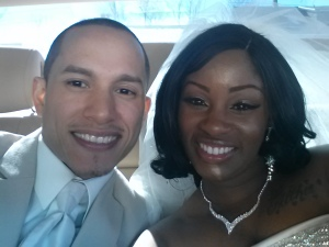 Khalil and Chamika on their wedding day